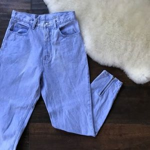 Vintage high waisted lilac blue jordache jeans